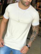 Camiseta M Artt Creme Detalhe Branco