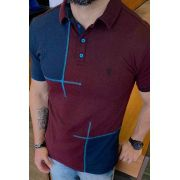 Camisa Polo Black West Picture Bordo