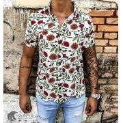 Camisa Starpolis Red Flowers