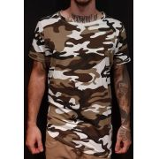 Camiseta Amazing Long Line Camouflaged Green