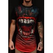 Camiseta Amazing Long Line Hungry Mouth Black