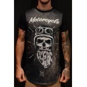 Camiseta Amazing Long Line Old Bearded Black
