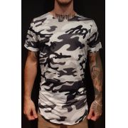 Camiseta Amazing Long Line White Camouflage