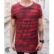 Camiseta Austin Club Vermelha Frases