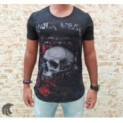 Camiseta Black West Preta Death Skull