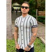 Camisa Botão Cinza Line Premium Volk Culture