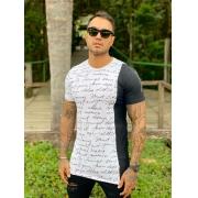 Camiseta Branca Palavras Line Premium Volk Culture