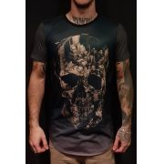 Camiseta Amazing Grey Corroded Skull