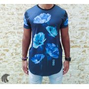 Camiseta Evoque Black Blue Flower