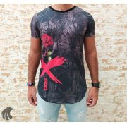 Camiseta Evoque Black Flower X
