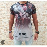 Camiseta Evoque Black Rising Flowers