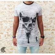 Camiseta Evoque Black Skull Splatters