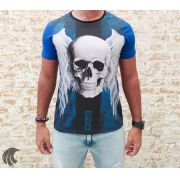 Camiseta Evoque Blue Angel Skull