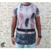 Camiseta Evoque Gray Feathers