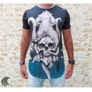 Camiseta Evoque Gray Octopus Skull