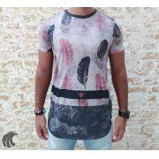 Camiseta Evoque Grey Bird Feathers