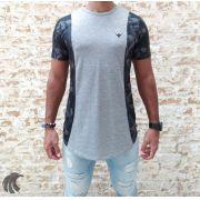Camiseta Evoque Grey Brand Flowers One