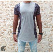 Camiseta Evoque Grey Brand Flowers Two