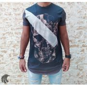 Camiseta Evoque Grey City Skull