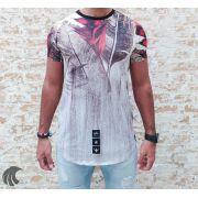 Camiseta Evoque Grey Flower Texture