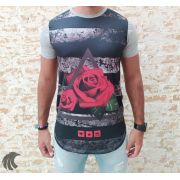 Camiseta Evoque Grey Flower with Triangle