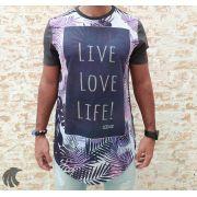 Camiseta Evoque Grey Live Love Life