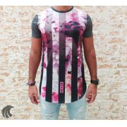 Camiseta Evoque Grey Roses and Tracks