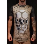Camiseta Evoque Grey Skull Polygon