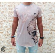 Camiseta Evoque Grey Skull Thinking