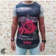 Camiseta Evoque Grey Triangle Flower Two