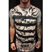 Camiseta Evoque Long Arabescos Black
