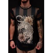 Camiseta Evoque Long  Furious Tiger Brown
