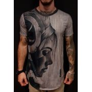 Camiseta Evoque Long Robber Woman Gray
