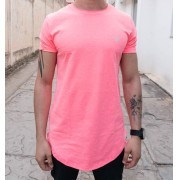 Camiseta Evoque Long Rosa