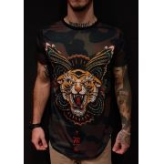 Camiseta Evoque Long Tigre Tribal