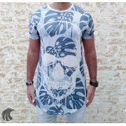 Camiseta Evoque White Leaves and Skull