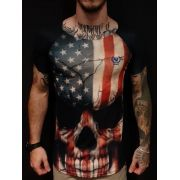 Camiseta John Rocket Long EUA Skull