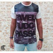 Camiseta King Joy Preta Favela Tudo Passa