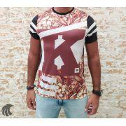 Camiseta King Joy Preta K Flowers