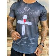 Camiseta Long Line Volk Culture Pai Nosso Picture
