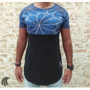 Camiseta Long Riviera Blue Flowers