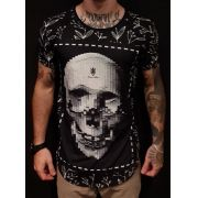 Camiseta Long Riviera Skull Screen Black