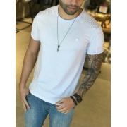 Camiseta M Artt Branca Detalhe Ombro