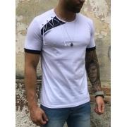 Camiseta M Artt Branca Detalhe Ombro Prime
