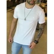Camiseta M Artt Branca Detalhes Barra