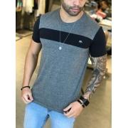 Camiseta M Artt Cinza/Preta Basic Two