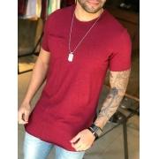 Camiseta M Artt Vinho Detalhe Bolso