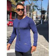 Camiseta Manga Longa Kreta Azul Cruz