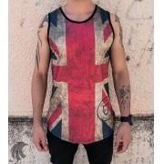 Camiseta Regata Volk Culture Preta Bandeira Reino Unido