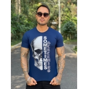 Camiseta Starpolis Azul Caveira Sometimes